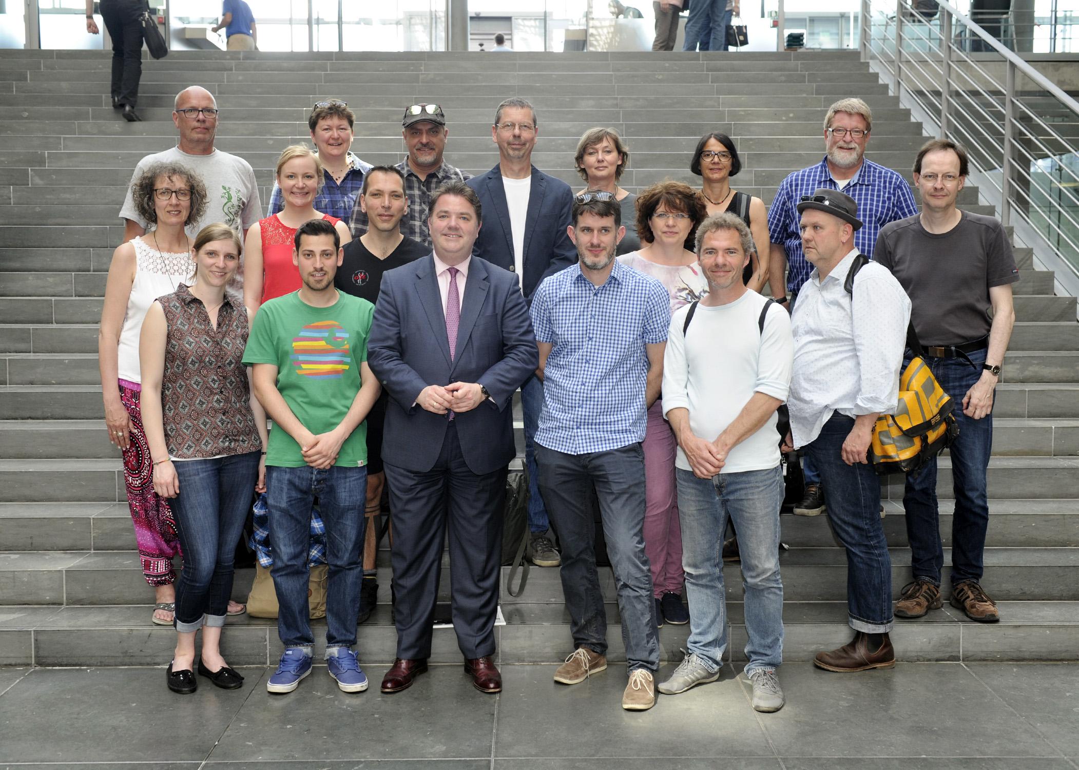 Krefelder Vertreter Kirchlicher Jugendarbeit im Bundestag