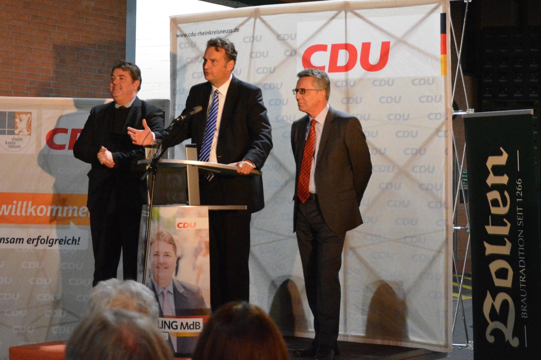 Bundesinnenminister de Maizière zu Besuch in Korschenbroich