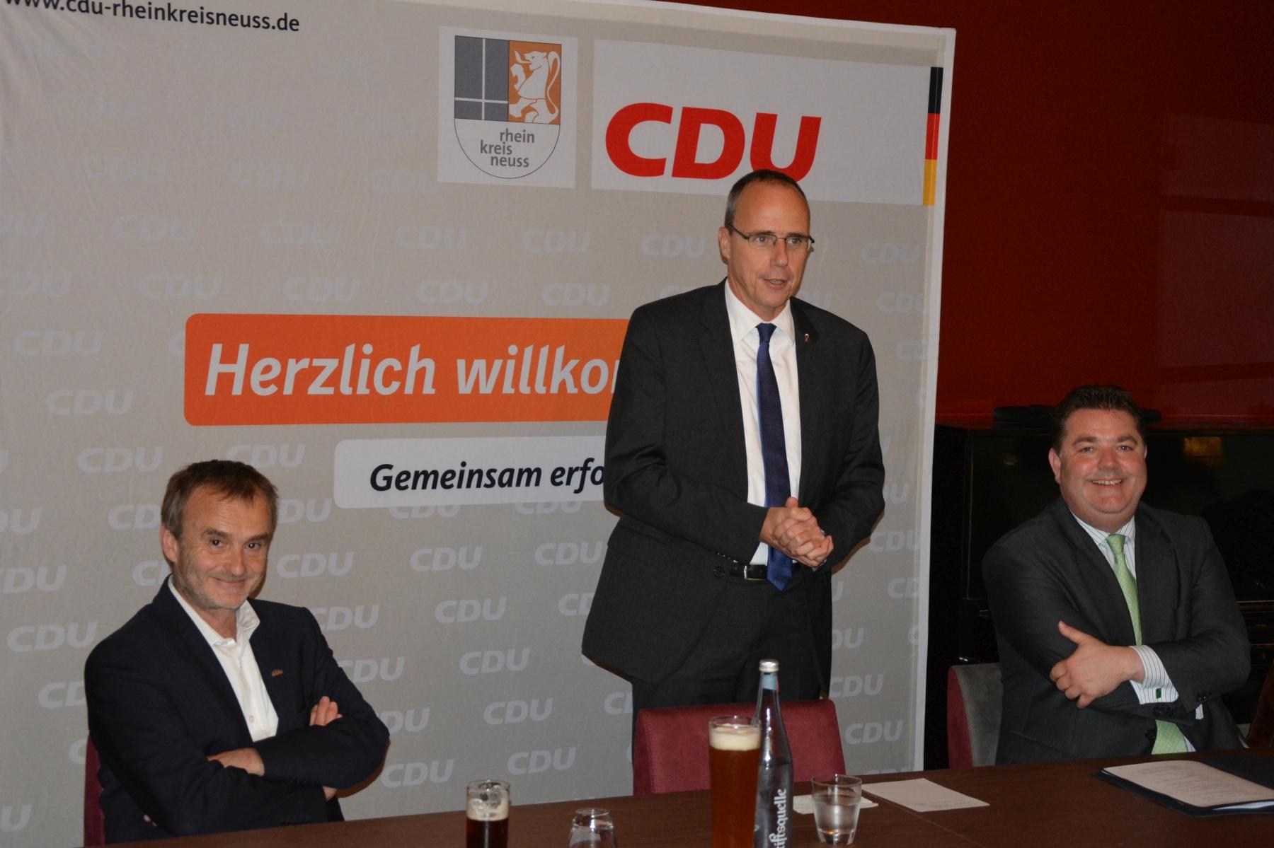 Hessischer Innenminister zu Besuch in Meerbusch Osterath