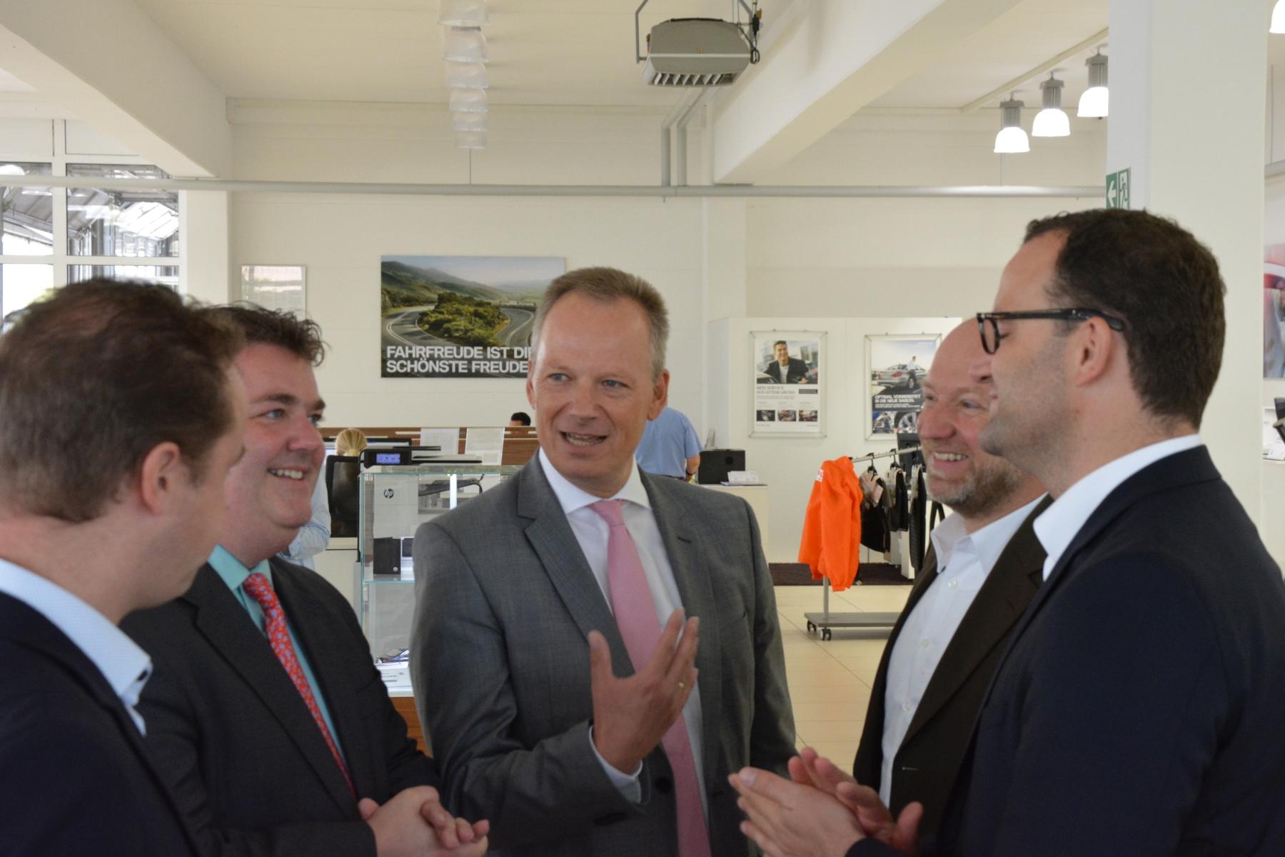 Gemeinsam mit Jens Spahn zum Unternehmensbesuch in Kaarst