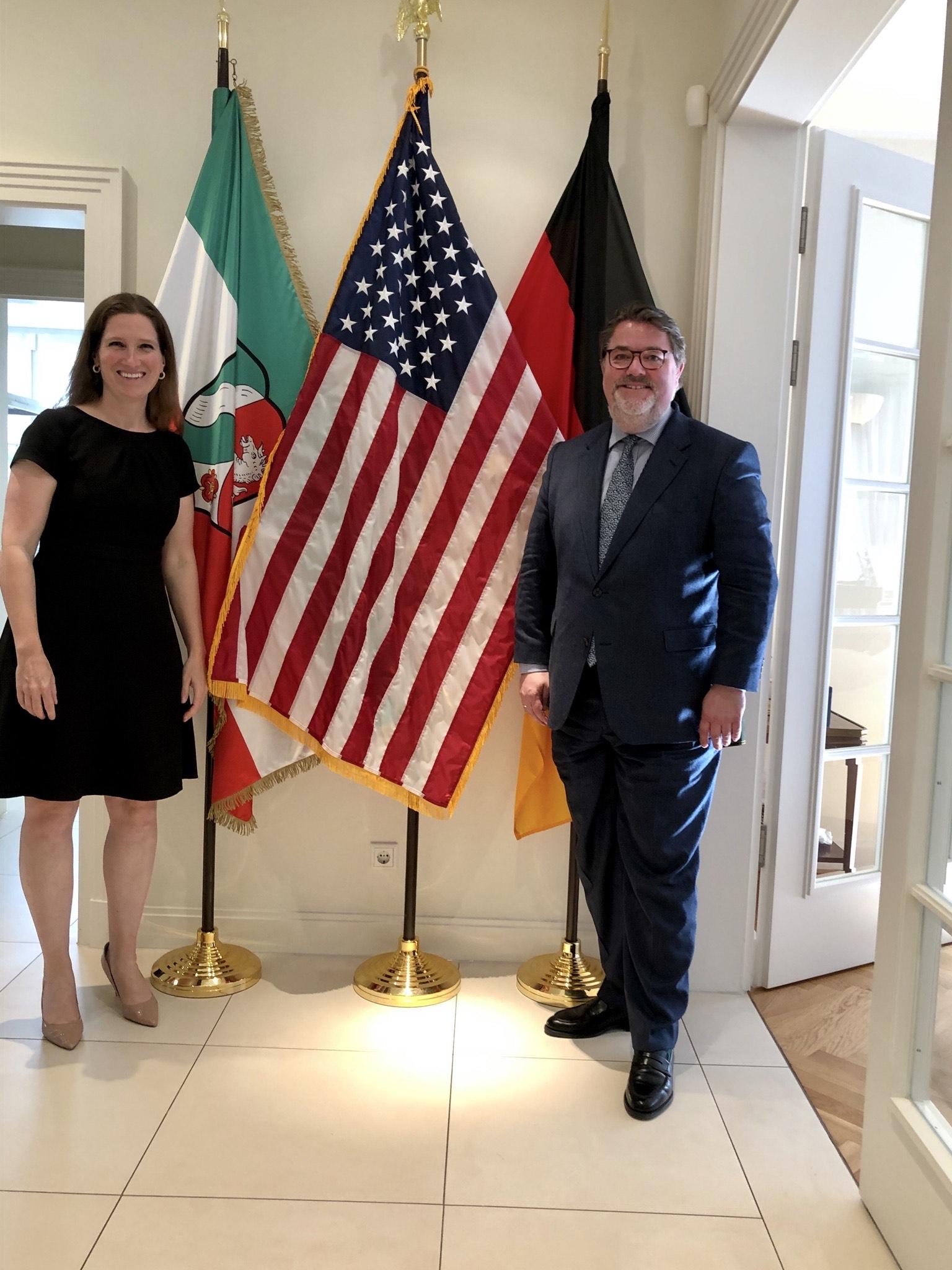 Bundestagsabgeordneter Ansgar Heveling besucht US-Generalkonsulin Fiona Evans
