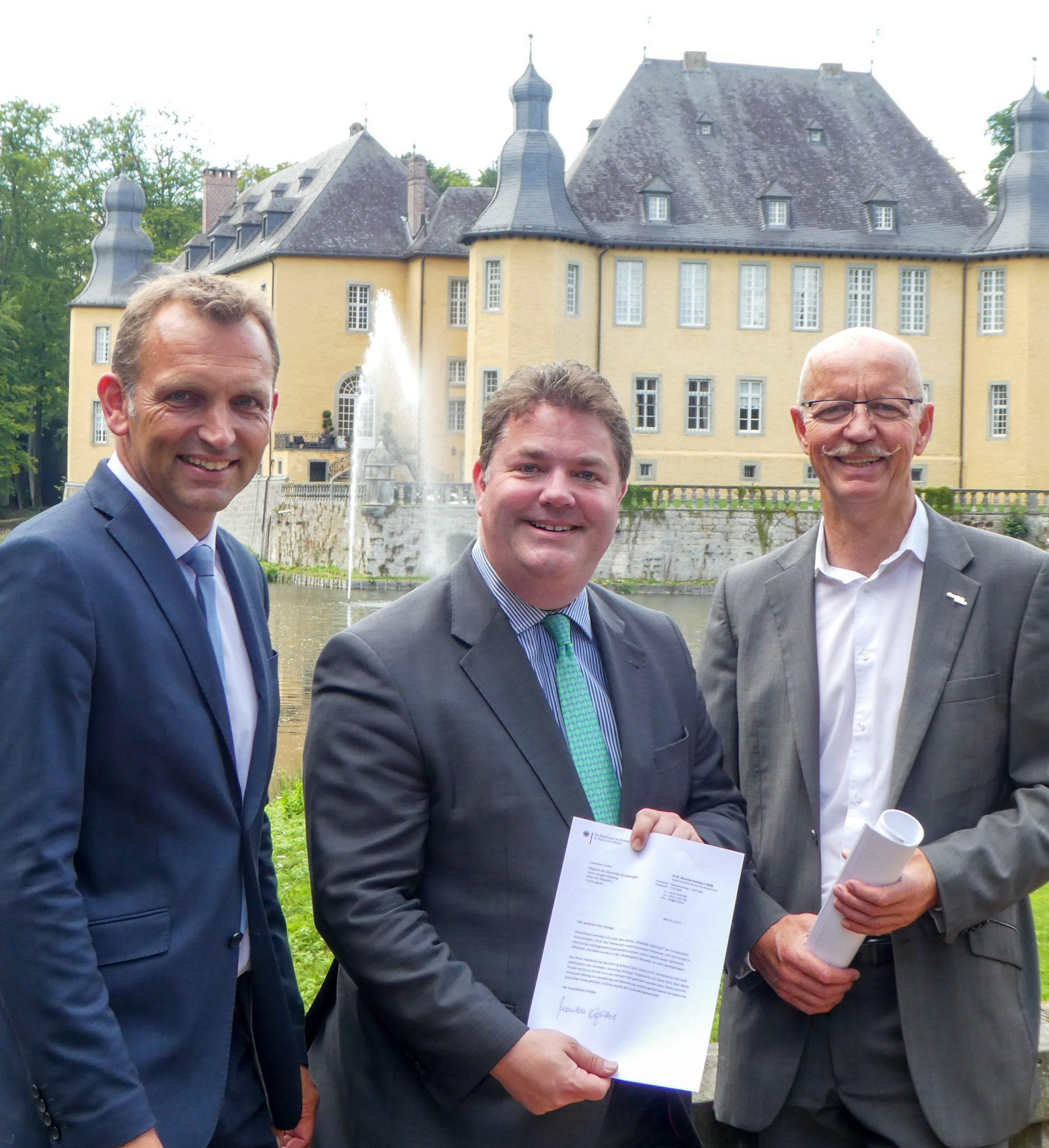 Bundestagsabgeordneter Ansgar Heveling überbringt frohe Nachricht Schloss Dyck: Geldsegen aus Berlin