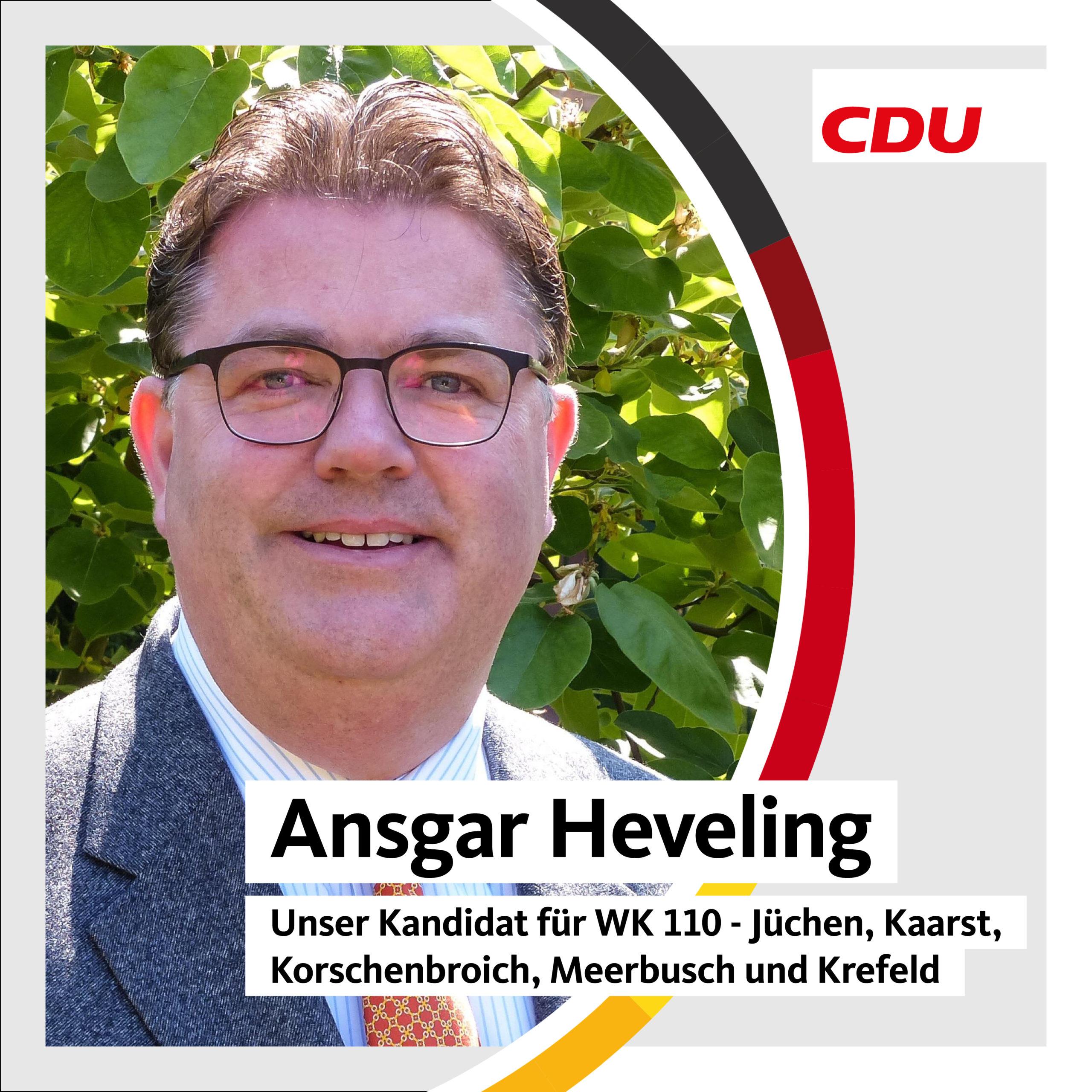 Ansgar Heveling erneut für Bundestagswahl aufgestellt